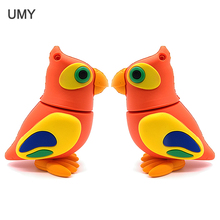 Cartoon bird usb flash drive pendrive 64gb 32gb 16gb 8gb 4gb cute parrot memory stick real capacity pendrive gift cle usb disk 2019 autumn new ankle boots for women platform high heels female lace up shoes woman buckle short boot casual ladies footwear