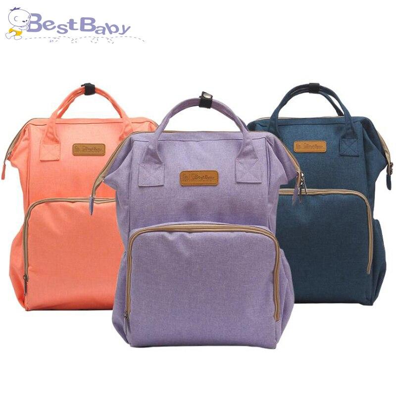 Bolsa de pañales de gran capacidad impermeable bolsa de pañales moda mamá maternidad mochila de viaje bolsa de lactancia para el cuidado del bebé bolso de las mujeres