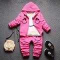 Meninos roupas de bebê Roupas define hoodies + calça Crianças primavera outono crianças 3 pcs Conjuntos de roupas esporte Terno conjunto
