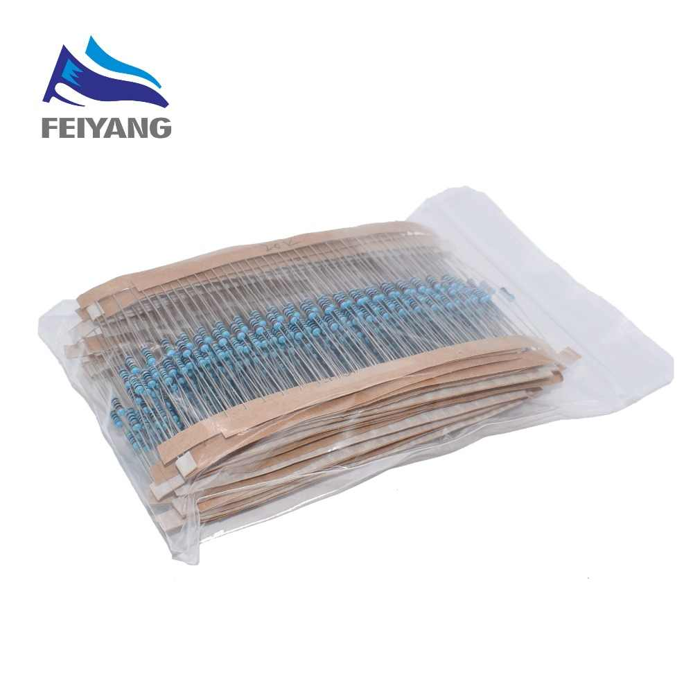 300 600 PCS /Set 1/4W Resistance 1% 30 Kinds Each Value Metal Film Resistor Assortment Kit resistors 100R 1K 47K 10K 100K 4K7