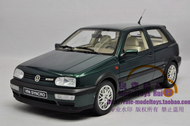 1 18 Otto Vw Golf Vr6 Of The 3 Generation Volkswagen Golf Car Model
