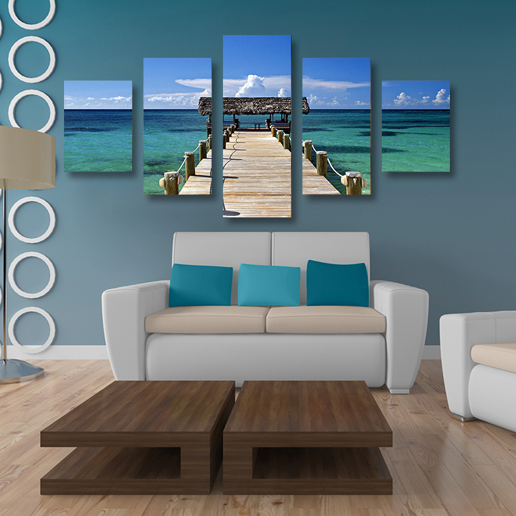 5 Panels Home Decor Canvas Wall Art Painting Caribbean Picture Print From Photo On For The In Calligraphy