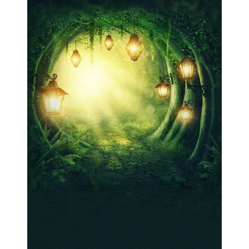 Fairy Tale Deep Forest Bright Lights Night Photo Studio