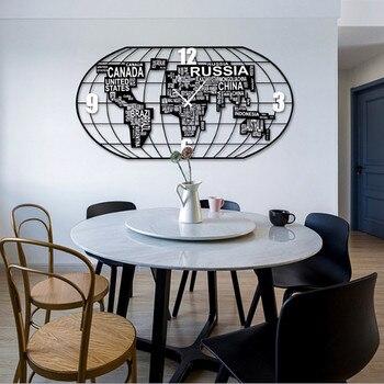 European Style Big Wall Clock Simple Diy Wall Clocks Guess Women Watch Living Room Quiet Quartz Clock Relogio Parede Gift 5ZB50