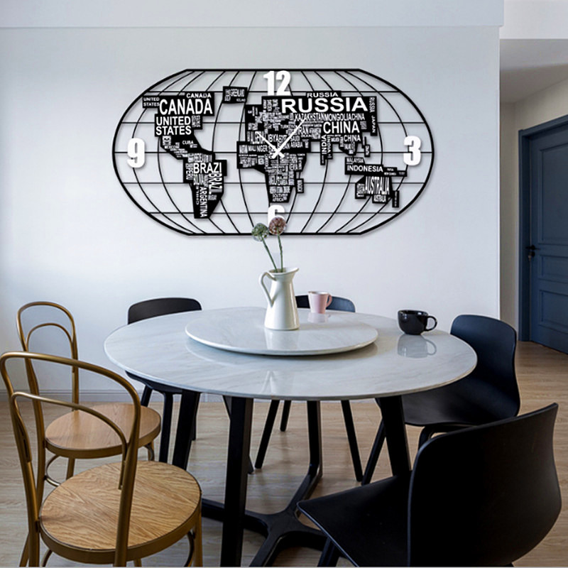 Style européen grande horloge murale Simple bricolage horloges murales Guess femmes regarder salon calme horloge à Quartz Relogio Parede cadeau 5ZB50
