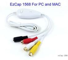 Oryginalne Oryginalne Ezcap 1568 HD USB Przechwytywania Wideo, konwersji analogowych format audio do cyfrowego wideo dla Systemu Windows 7 8 10 i MAC OS, win10