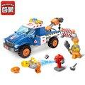 207 unids ciudad serie de auxilio vial leping compatible bloques de construcción enlighten niños ladrillos educativos juguetes minis