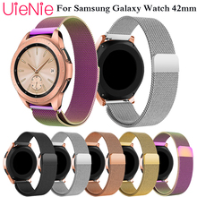 20mm strap for Samsung Gear sport S2 frontier classic wristband Galaxy 42mm watch band Metal Magnetic Release