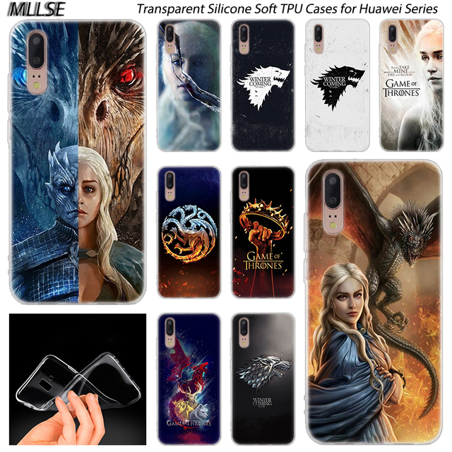 Hot Game of Throne Sign Silicone Case for Huawei P30 P20 P10 P9 P8 Lite 2017 P30 P20 Pro Mini P Smart 2019 Plus Fashion Cover