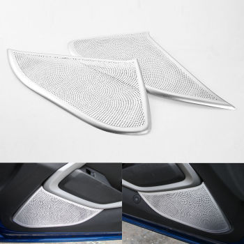 2x Inner Door Audio Speaker Stereo Aluminum Mesh Grill Cover Trim Sticker Protector Fit For Chevrolet Camaro 2017+Car Styling