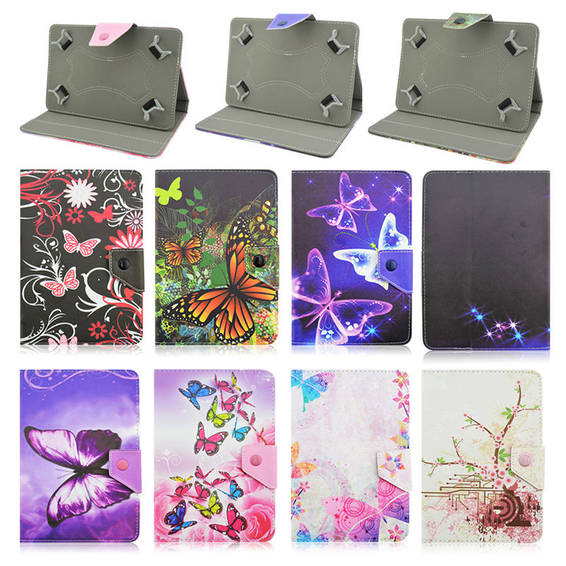 Butterfly PU Leather Stand Cover Case Universal 10 inch Tablet For Acer Aspire One 10 Z3735F 10.1 Inch+Center Film+pen KF492A butterfly pu leather stand case cover for tablet irbis tx12 10 1 inch universal 10 inch tablet cases center film pen kf492a