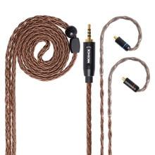 Обновленный кабель NICEHCK, 16 ядер, из чистой меди, Hi Fi, разъем 3,5/2,5/4,4 мм, MMCX/2Pin для KZZSN/AS06/ZS10 CCAC16/C10 NICEHCK NX7/F3/M6