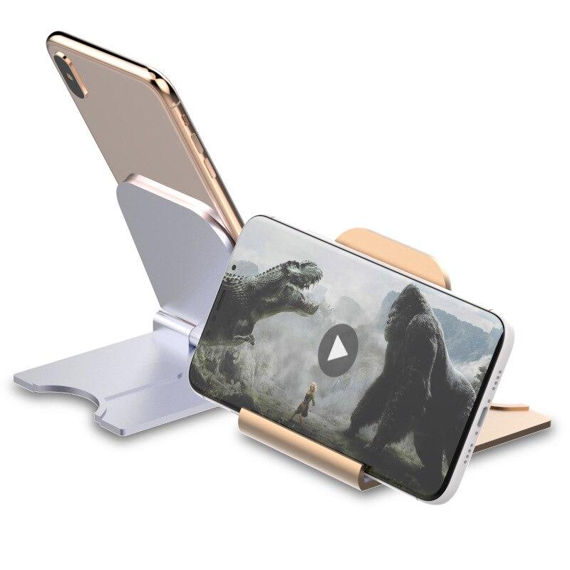 Universal Adjustable Mobile Phone Holder Support For IPhone 8Plus X XR Plastic Phone Stand Desk Tablet Folding Bracket Desktop