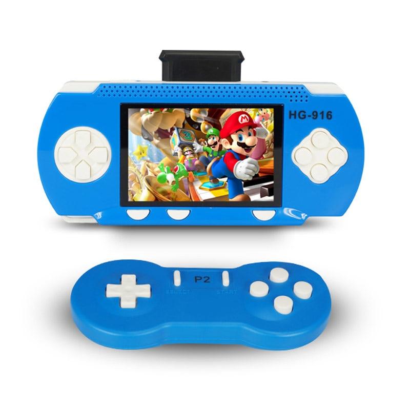 """Consola portátil двух игроков Видеоприставки для детей подарок 2.8 """"сотни классических игр двойная игра с беспроводной геймпад для ТВ"""