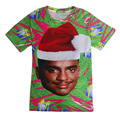 2016 New 3D Printed Fresh Prince Christmas Pattern T-shirt Short Sleeve Male T Shirt Casual Summer Tops Men/Women Tees Wholesale
