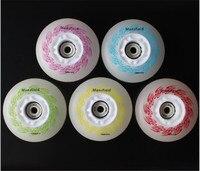 1PC 5 Colors Roller Skate Wheels 85 83A Hardness HardWearing LED Flash Shining Inline Skate Wheels