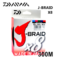 Daiwa Original J BRAID X8 300M/330Yds original 8 braided fishing line monofilament fishing PE braided line 10 60lb made in japan