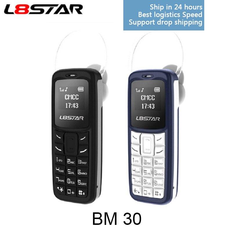 L8STAR BM30 NEWEST Dual SIM TF Card Wireless Car Bluetooth Headset Dialer cellphone hand-free Headset Mini small Mobile phone