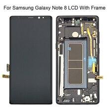 """חדש 6.3 """"עבור SAMSUNG Galaxy NOTE8 LCD N950 N950F LCD תצוגת מסך מגע Digitizer Assambly החלפת חלקים + מסגרת"""