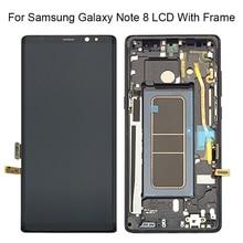 """Novo 6.3 """"para samsung galaxy note8 lcd n950 n950f display lcd de toque digitador da tela peças reposição assambly + quadro"""