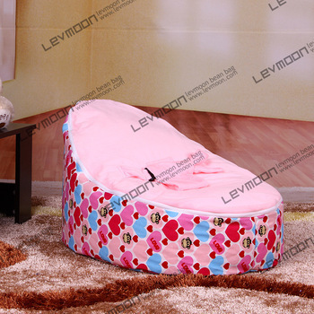 Baby Bean Bag Chair With 2pcs Pink Up Cover Seat