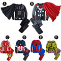 Kids Set Clothing Teenage Boys Pajama Sets Spiderman Cartoon Print Cosplay Clothes Kids Baby Boys Home Clothes Pants+Shirt 2pcs