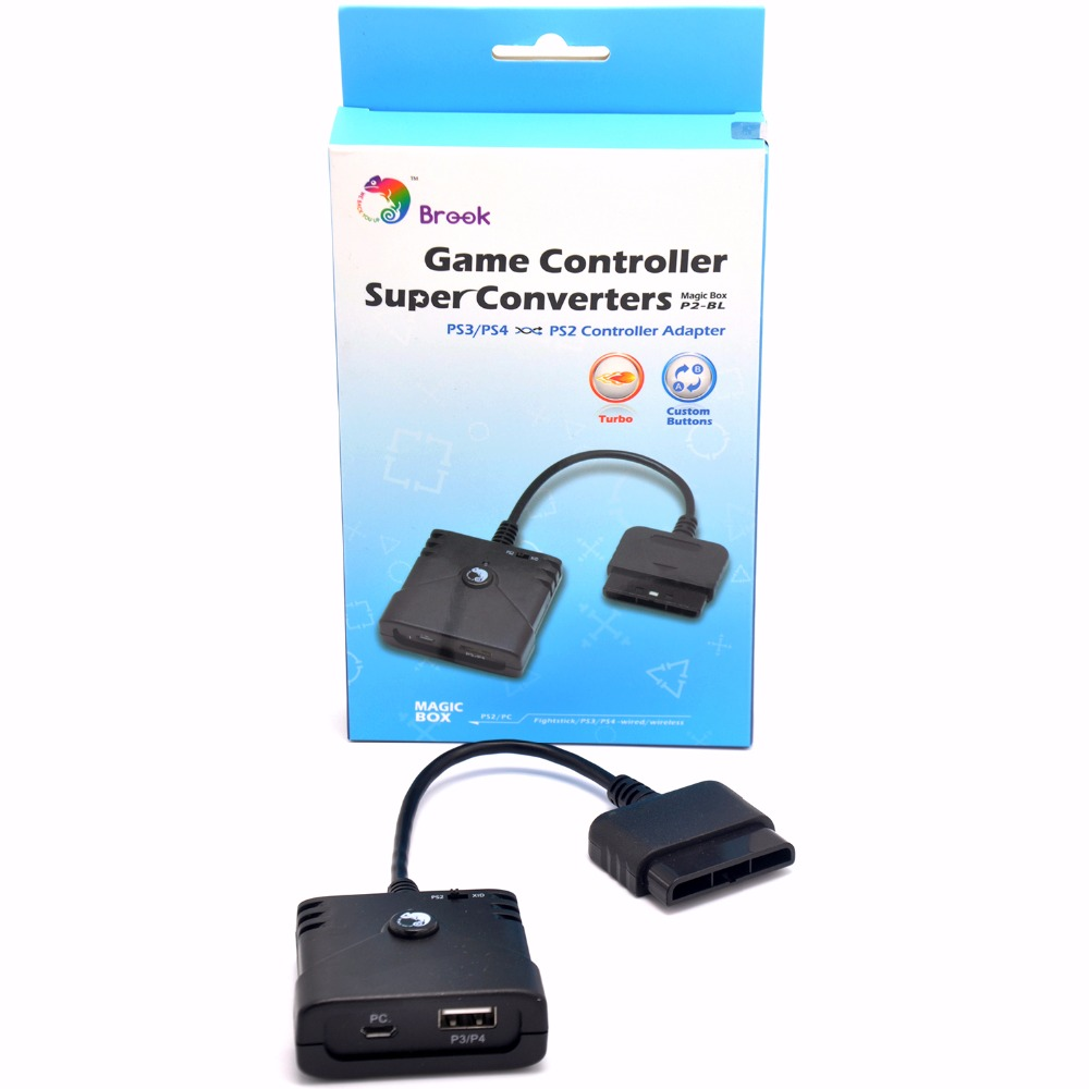 Brook Super Converter Adapter for PS3 PS4 to PS2 Controller Adapter use PS3 PS4 Fightstick Gamepad
