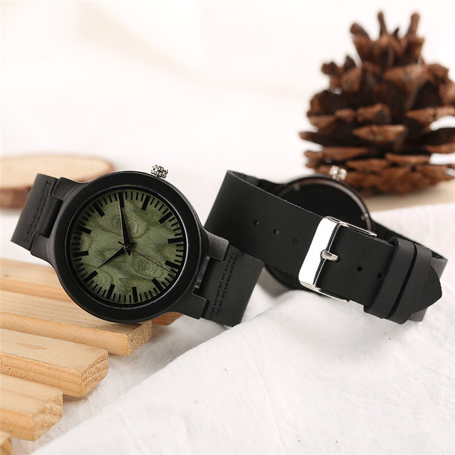 Wooden Lover Quartz Watches Woman Man Genuine Leather Band Couple Watch Anniversary Gifts 5