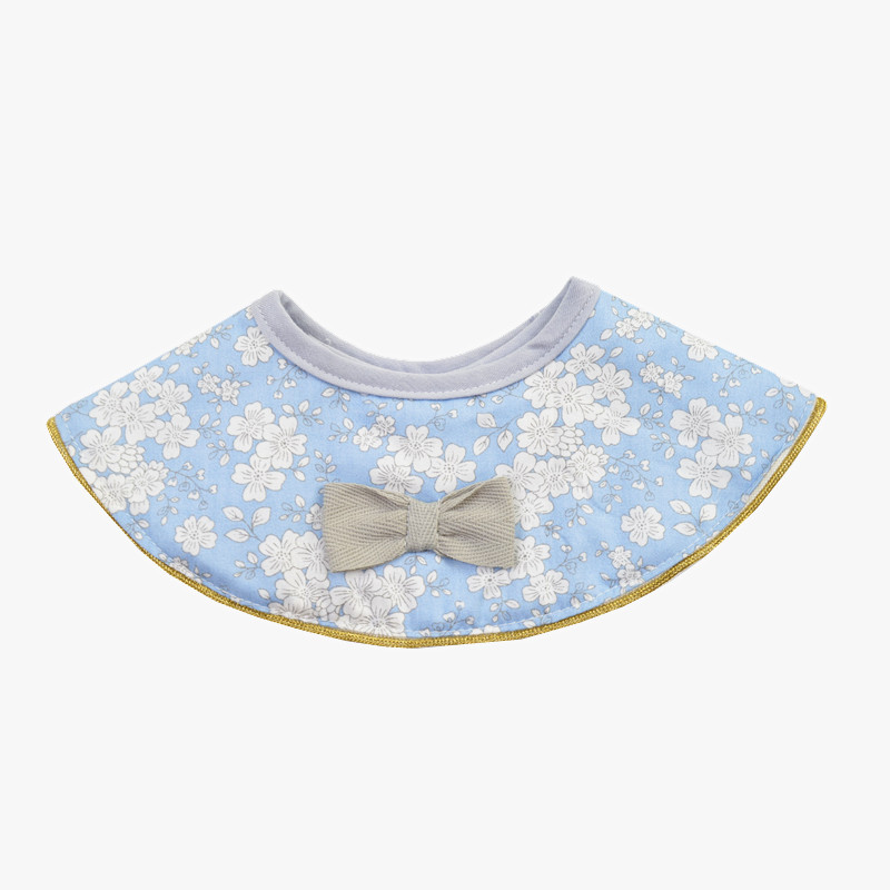 Ins Retro Cotton Breathable Baby Bibs Breastplate Waterproof Kids Things Baby Stuff 360 Degree Rice Pocket (4)