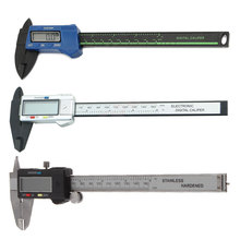 Portable LCD Digital Caliper Carbon Fiber Vernier Gauge 150mm 6inch Micrometer Measuring Tool Convenient Accessories стоимость