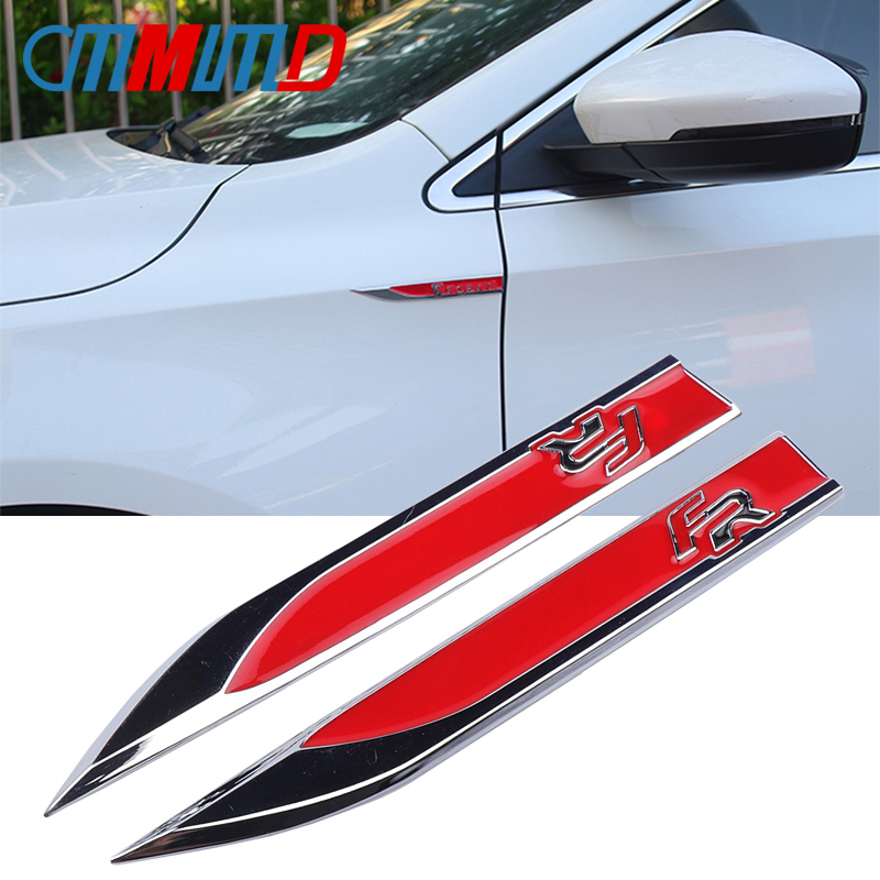 Buy 1 Pair 3D Metal FR Emblem Badge Decal Auto Fender Side Car Sticker for SEAT Ibiza Toledo Arosa Alhambra Exeo FR Supercopa Mii for only 5.88 USD