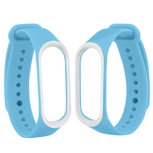 Image 5 - Smart Band Accessories For Xiaomi Mi Band 3 4 Strap Replacement Wristband Double Color Silicone Bracelet for Mi Band 4 Strap