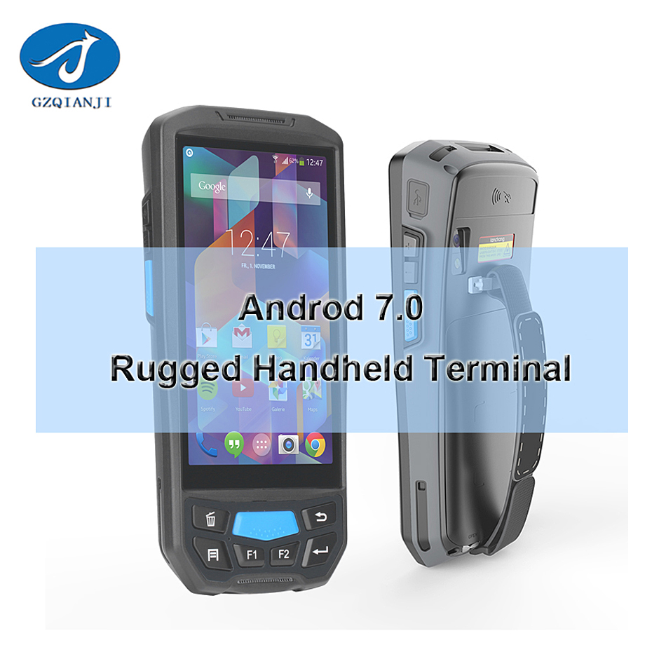 5 inch PDA IPS Screen Handheld Inventory Machine Android Based For Barcode Label Reader handheld android pda barcode scanner ...