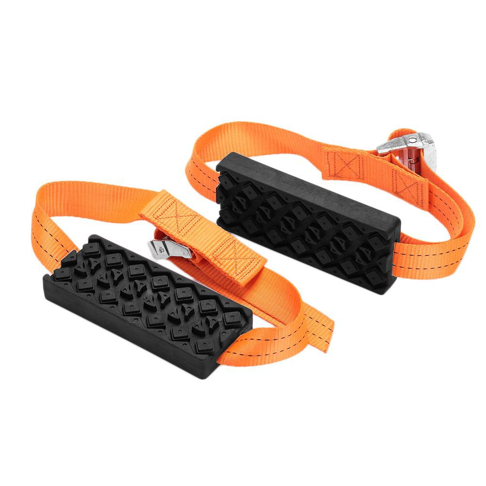 1 pair Car Tire Belt Snow Mud Chains Anti-slip Chain Hard Wearing Snow-Chain Recovery Tracks Road