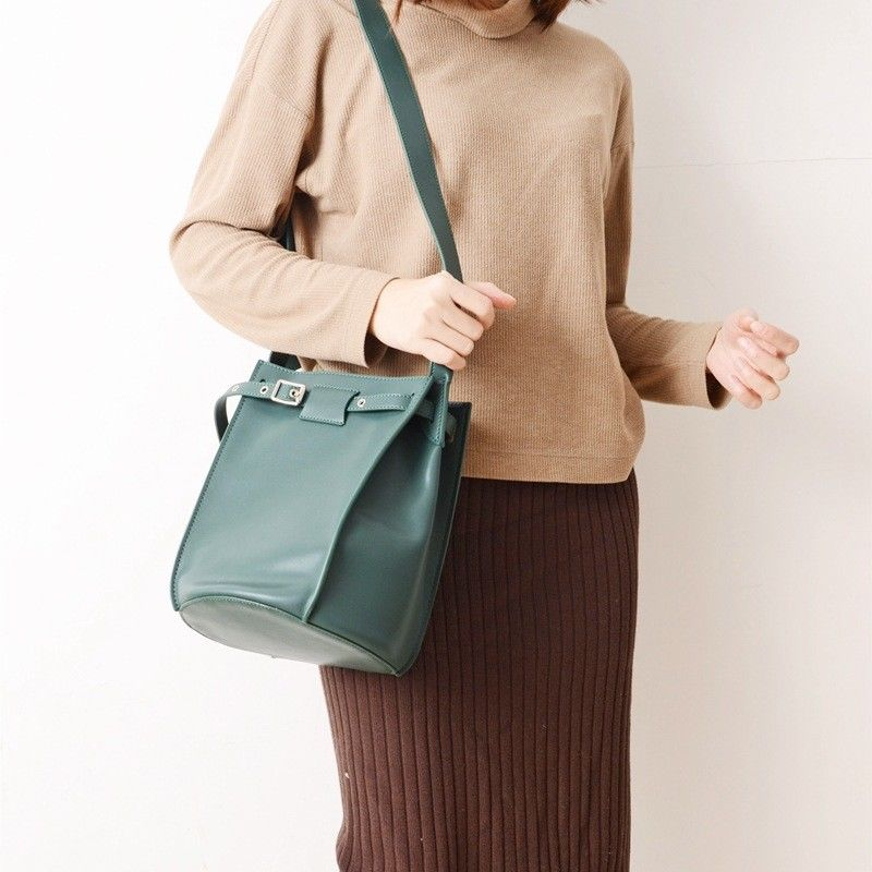 Leather Bucket Bag Belt Shoulder Bag Messenger Work Handbag Women Purse Casual Totes High Quality цены