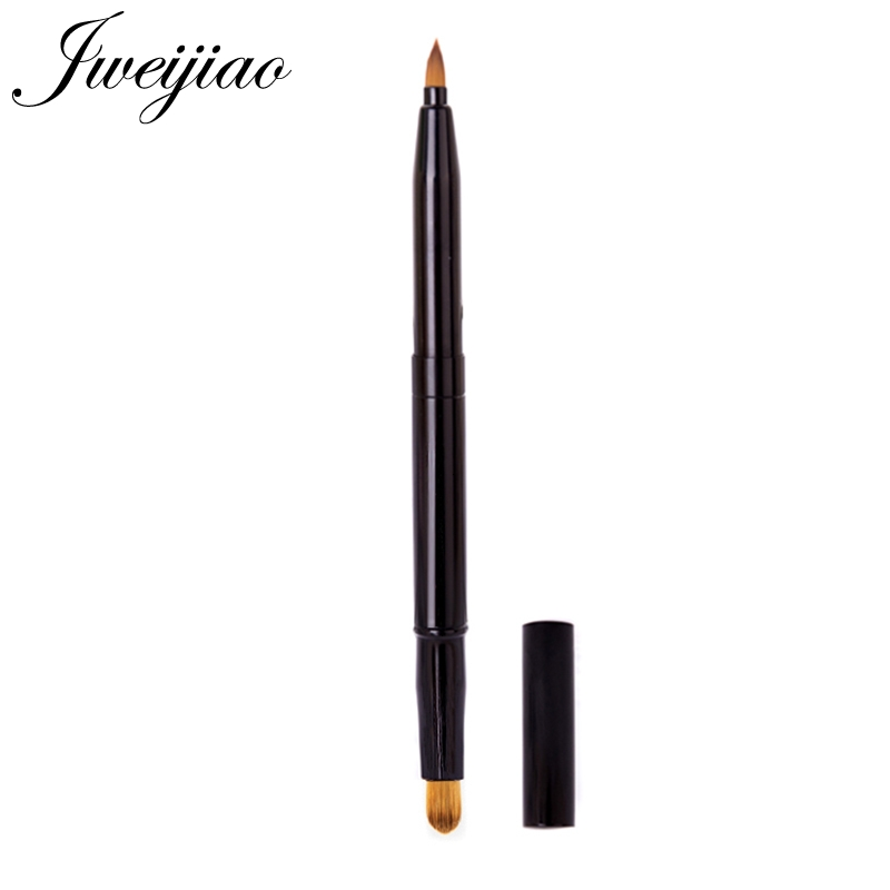 JWEIJIAO 1 PC Scalable Lip Brush and concealer brush Plastic Handle Cosmetic Multifunctional Brush With Protect Cap(China)