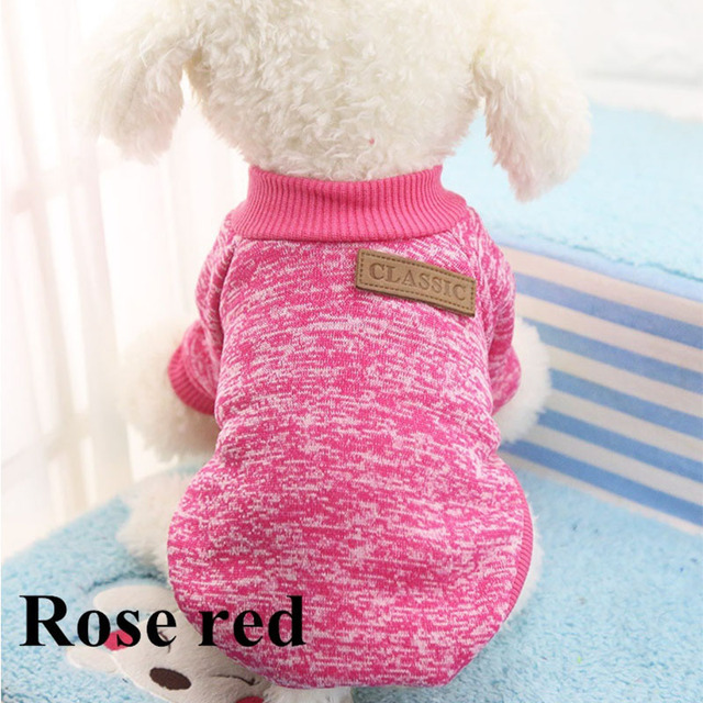 Classic Warm Dog Clothes Puppy Pet Cat Clothes Sweater Jacket Coat Winter Fashion Soft For Small Dogs Chihuahua XS-2XL 2