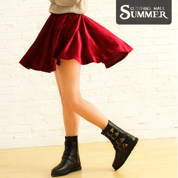 Online Shop Free Shipping. Black/Dark Blue/Red Mini Skirts ...