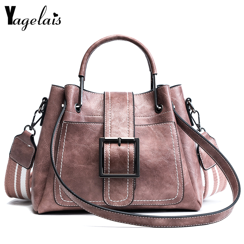 Fashion Ladies Luxury Brand Designer Single Shoulder Bags Women Leather Wide Strap Shoulder bag Handbag Crossbody bag Color 3