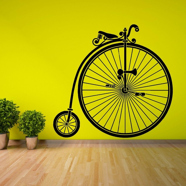 PENNY FARTHING PEDAL BIKE PUSH BIKE vinyl wall art sticker decal Customize Colors available Black white  sc 1 st  AliExpress.com : penny farthing wall art - www.pureclipart.com