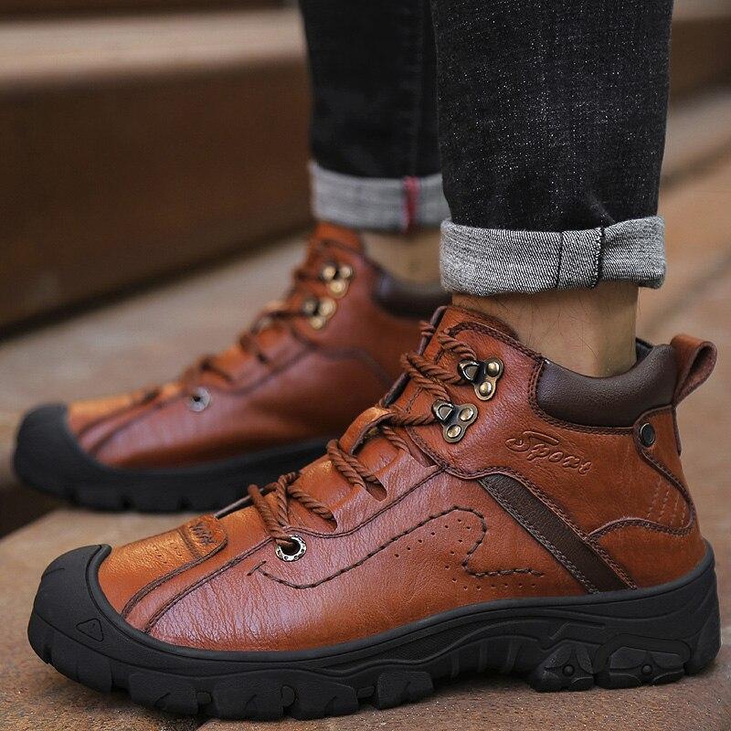 NORTHMARCH Hiver En Cuir Véritable Mâle Chaussures En Plein Air Occasionnels Mens Bottes D'hiver Garder Au Chaud Sneakers Hommes Scarpe Uomo Invernali