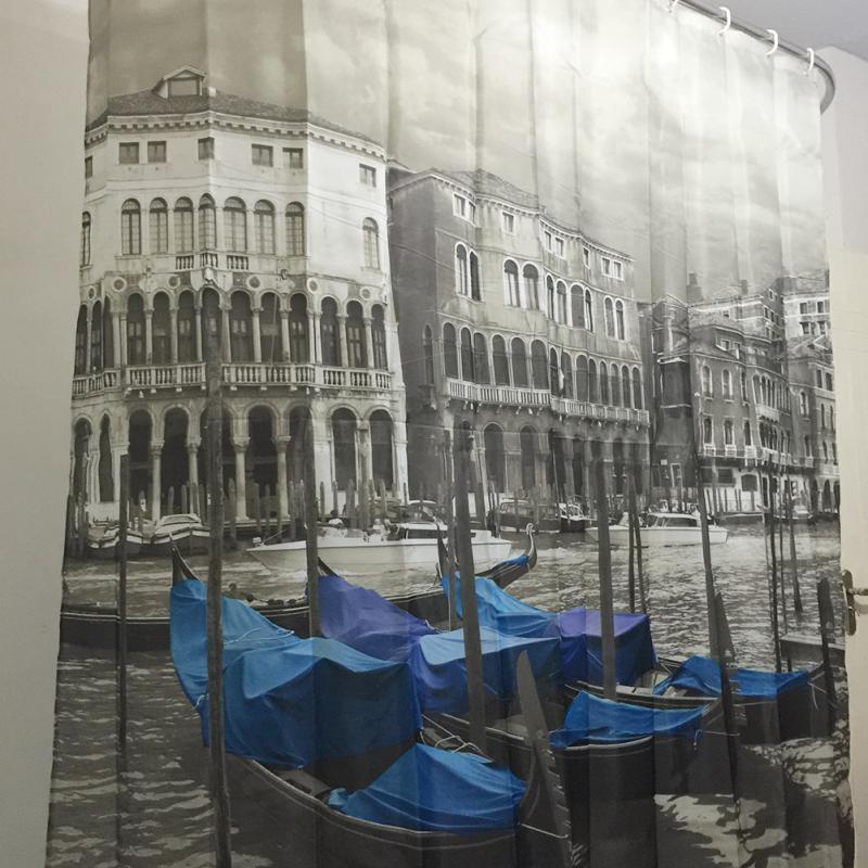 Venedig gemusterten Duschvorhang stilvolle Familie Badezimmer - Haushaltswaren - Foto 6