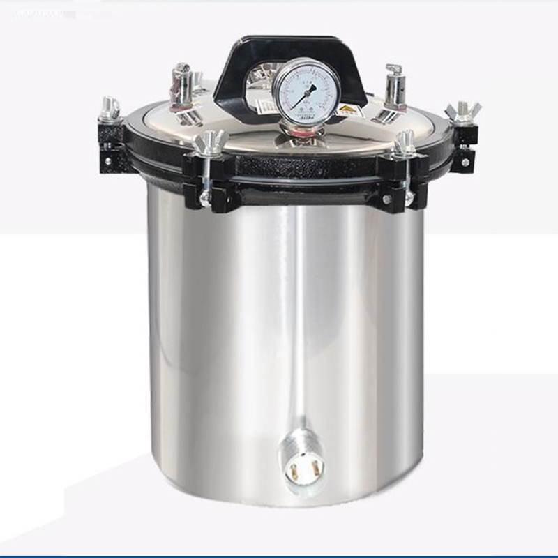 Olla de esterilización de acero inoxidable portátil de 18L, esterilizador de vapor a presión autoclave olla quirúrgica médica con anti seco-in Ollas a presión from Hogar y Mascotas    1