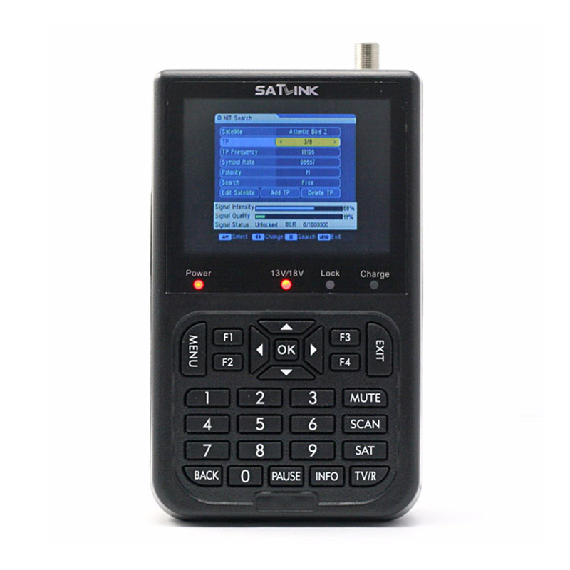 Digital LCD Satellite Finder Meter Plus Download And Watch All FTA Digital Satellite Channels On Colour LCD Satlink WS-6906 anewkodi original satlink ws 6906 3 5 dvb s fta digital satellite meter satellite finder ws 6906 satlink ws6906
