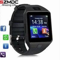 20 шт./лот Bluetooth Smart часы DZ09 Android Телефонный звонок Relogio 2 г/м² sim карта TF Камера для iPhone samsung HUAWEI PK GT08 A1