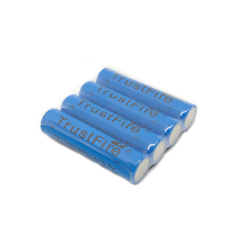 20pcs lot TrustFire 3 7V TR10440 600mAh 10440 Rechargeable Lithium Battery with 1000 Cycle for LED Flashlight Headlamp in Rechargeable Batteries from Consumer Electronics