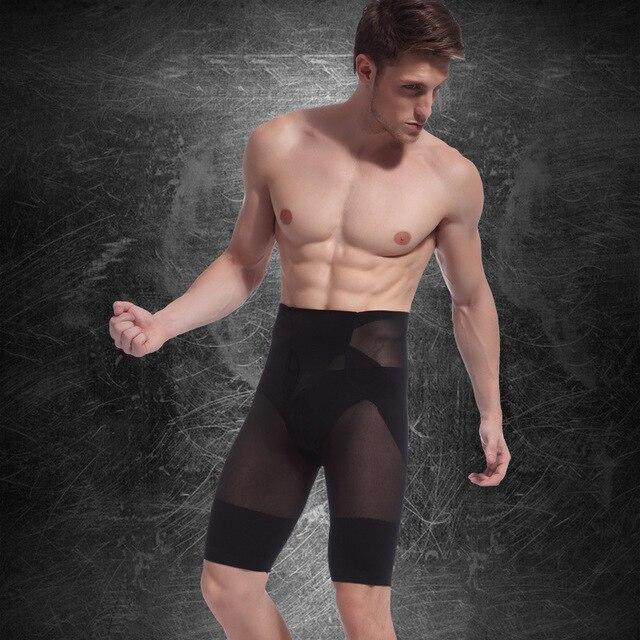 80d092d0fc958 High Elasticity Men Bodysuit Slimming Body Shaper Pants Shapewear Waist  Fitness Sports Corsets Men Body Shaper Slim Shorts