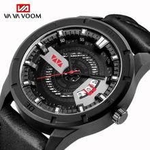 купить Sport Men Watch 2019 New Men's Quartz Wristwatches Male Clock Top Brand Luxury Reloj Hombres Leather Wrist Watches with Calendar по цене 308.72 рублей