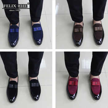 FELIX CHU LUXURY BRAND LOAFERS ELEGANT MEN WEDDING SHOES HIGH GRADE LEATHER NUBUCK LEATHER PARTY BANQUET DRESS MALE CASUAL SHOES