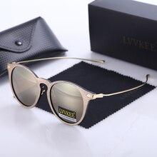LVVKEE Brand fashion women's sunglasses metal frame wood colored lenses Sun Glasses oculos de sol feminino Original LOGO box